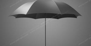 عکس با کیفیت تبلیغاتی چتر مشکی با بک گراند خاکستری تیره