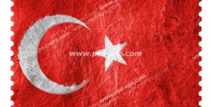 عکس با کیفیت تبلیغاتی پرچم ترکیه با افکت دور دندانه ای