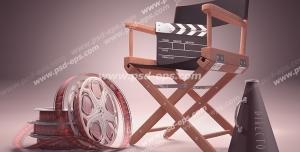 عکس با کیفیت تبلیغات کلاکت بر روی صندلی کارگردان
