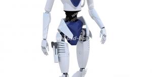 عکس با کیفیت تبلیغاتی ربات با چهره ای شبیه آدم فضایی