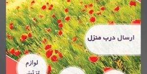 طرح آماده لایه باز پوستر یا تراکت فروشگاه گل گلسرا با محوریت تصویر لاله زار زیبا