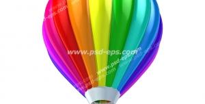 عکس با کیفیت تبلیغاتی بالن رنگارنگ زیبا