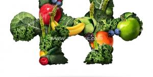 عکس با کیفیت تبلیغاتی یک تکه از پازل از جنس سبزیجات