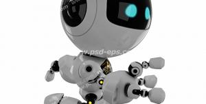 عکس با کیفیت تبلیغاتی ربات با دستی با سه انگشت