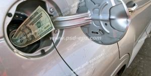 عکس با کیفیت تبلیغاتی دلار داخل باک ماشین