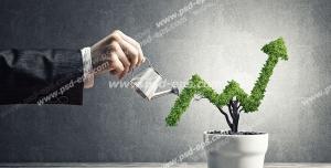 عکس با کیفیت تبلیغاتی نمودار رشد اقتصاد