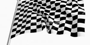 عکس با کیفیت تبلیغات پرچم شطرنجی سفید و سیاه پایان مسابقه