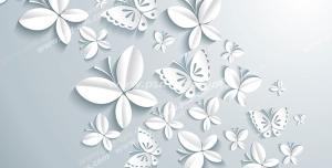 عکس با کیفیت تبلیغاتی پروانه گل به شکل پروانه