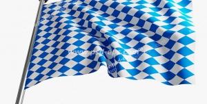 عکس با کیفیت تبلیغات پرچم شطرنجی سفید و آبی شروع مسابقه