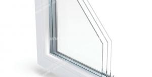 عکس با کیفیت گوشه برش خورده از پنجره دو جداره مناسب تبلیغ تولیدکنندگان پنجره دو جداره