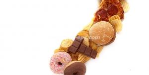عکس با کیفیت تبلیغاتی علامت سوال از جنس فست فود و شیرینی