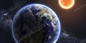 عکس با کیفیت تبلیغاتی کره زمین و سیارات دیگر