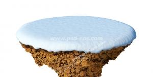 عکس با کیفیت تبلیغاتی یک تکه جدا شده از زمین برفی