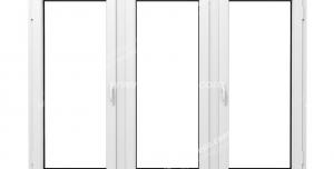 عکس با کیفیت پنجره دو جداره سه لت دو طرف باز شو