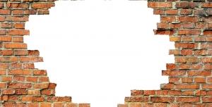 عکس با کیفیت تبلیغاتی کادر بزرگ به شکل دیوار آجری
