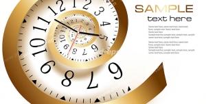 عکس با کیفیت تبلیغاتی ساعت حلزونی طلایی