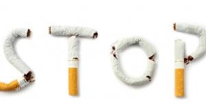 عکس با کیفیت تبلیغات کلمه ایست با ته سیگار ها