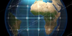 عکس با کیفیت تبلیغاتی کره زمین تقسیم بندی شده با مدار