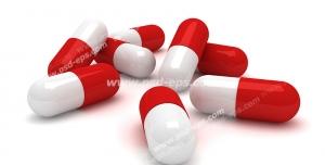 عکس با کیفیت تبلیغاتی کپسول های قرمز و سفید