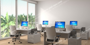 عکس با کیفیت تبلیغات آموزشگاه کامپیوتر با فضای زیبا