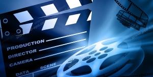 عکس با کیفیت تبلیغاتی کلاکت فیلمبرداری رول فیلم نوار فیلم سینمایی
