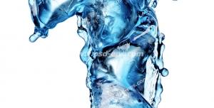 عکس با کیفیت تبلیغات عدد یک به شکل یخ در حال ذوب شدن