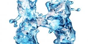 عکس با کیفیت تبلیغات عدد هشت به شکل یخ در حال ذوب شدن