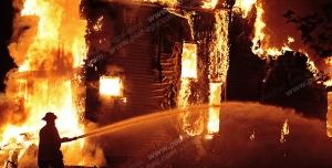 عکس با کیفیت تبلیغاتی آتش گرفتن خانه