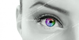 عکس با کیفیت تبلیغاتی چشم هفت رنگ