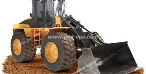 عکس با کیفیت تبلیغاتی بولدوزر لودر بیل مکانیکی روی مقداری خاک