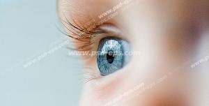 عکس با کیفیت تبلیغاتی کودک چشم آبی زیبا
