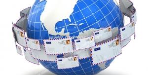 عکس با کیفیت تبلیغات نامه هایی که در حال ارسال به سرزمین های دیگر هستن