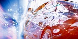 عکس با کیفیت تبلیغاتی خودرو لوکس و زیبا و کیلومتر شمار محو شده در تصویر