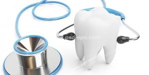 عکس با کیفیت تبلیغاتی دندان با استتوسکوپ