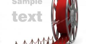 عکس با کیفیت تبلیغات رول فیلم به صورت فرش قرمز
