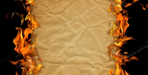 عکس با کیفیت تبلیغاتی آتش گرفتن کاغذ