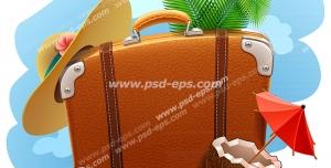 عکس با کیفیت تبلیغاتی چمدان مسافرتی