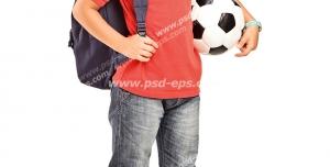 عکس با کیفیت تبلیغاتی پسر بچه توپ به دست