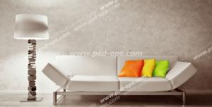 عکس با کیفیت تبلیغاتی مبل استیل سفید و آباژور سفید