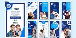 طرح آماده لایه باز بنر استوری اینستاگرام در 9 طرح مختلف با تصاویر با کیفیت با موضوع پرستاری و مهدکودک و پیش دبستانی