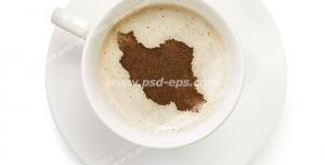 عکس با کیفیت تبلیغاتی نقشه ایران در فنجان