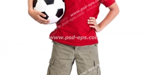 عکس با کیفیت تبلیغاتی پسر با توپ در دست