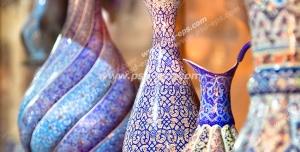 عکس با کیفیت تبلیغاتی گلدان سفالی زیبا