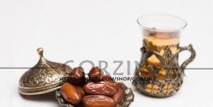 تصویر استکان چای و خرما با کیفیت
