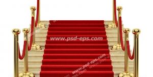 عکس با کیفیت تبلیغاتی پله و فرش قرمز
