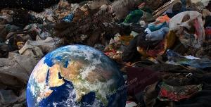 عکس با کیفیت تبلیغاتی کره زمین و زباله ها