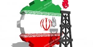 عکس با کیفیت تبلیغاتی دکل و چرخ دنده با طرح پرچم ایران