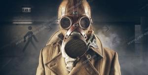 عکس با کیفیت تبلیغاتی ماسک ضد گاز شیمیایی