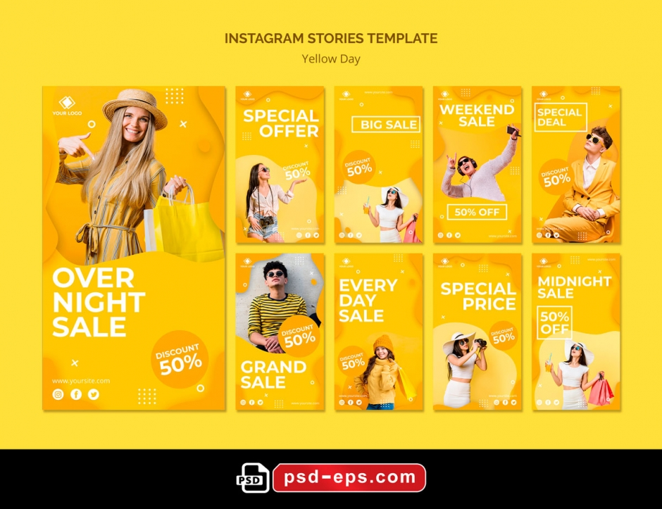 طرح آماده لایه باز بنر استوری اینستاگرام در 9 طرح مختلف با تصاویر با کیفیت با موضوع فروشگاه اکسسوری