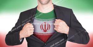 عکس با کیفیت تبلیغاتی تیشرت با طرح پرچم ایران